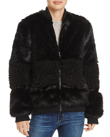 850e6543fe2c John and Jenn John + Jenn Faux Fur Bomber Jacket - 100% Exclusive ...