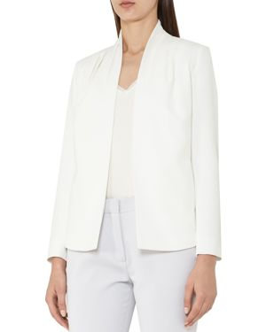 Reiss Sancia Pleated-Shoulder Jacket