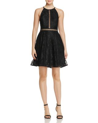 $AQUA Lace Fit-and-Flare Dress - 100% Exclusive - Bloomingdale's