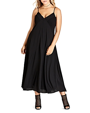 City Chic Smocked Side Maxi Dress