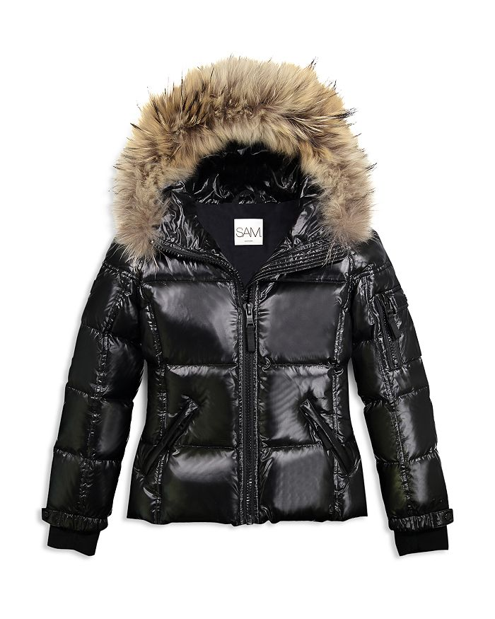 SAM. - Girls' Blake Fur-Trimmed Down Jacket - Big Kid