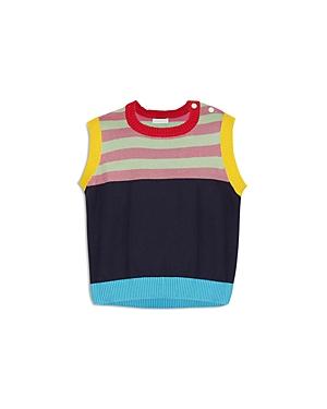 Margherita Kids Girls' Retro Striped Sweater Vest - Little Kid