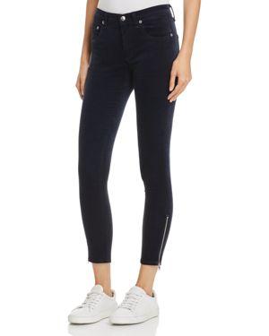 rag & bone/Jean Ame Velvet Skinny Jeans in Navy