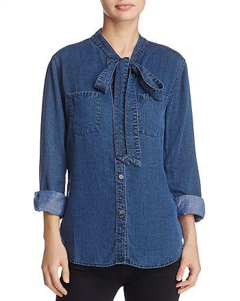 Rails - Rosalee Tie-Neck Chambray Shirt