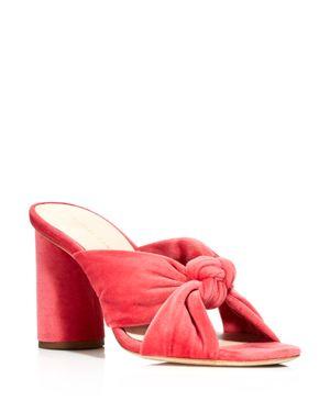 Loeffler Randall Coco Velvet High Heel Slide Sandals