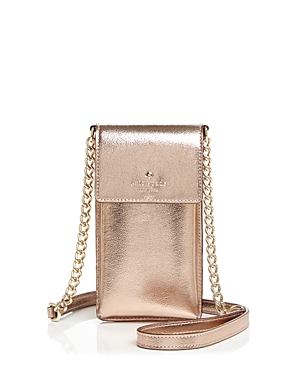 kate spade new york Metallic Leather iPhone Crossbody