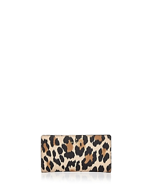 kate spade new york Hyde Lane Stacy Leopard Print Leather Wallet