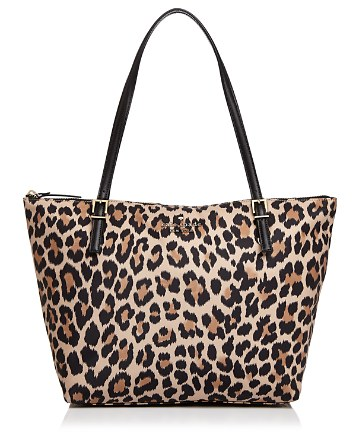 $kate spade new york Watson Lane Maya Leopard Print Nylon Tote - Bloomingdale's