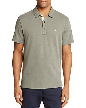 rag & bone Standard Issue Short Sleeve Regular Fit Polo Shirt