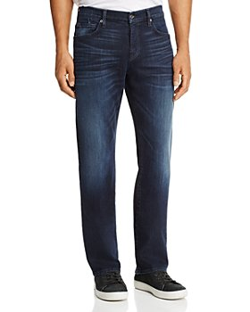 7 For All Mankind - Carsen Dark Current Straight Fit Jeans in Dark Indigo