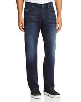 7 For All Mankind - Carsen Dark Current Straight Fit Jeans in Dark Indigo