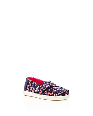 Toms Girls' Classic Tribal Slip-On Sneakers - Baby, Walker, Toddler