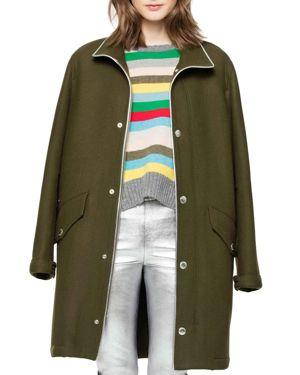 Zadig & Voltaire Karne Wool-Blend Coat