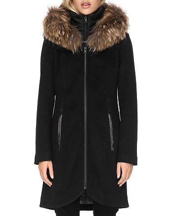 Soia & Kyo - Charlena Fur Trim Coat