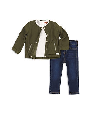 7 For All Mankind Girls Bomber Jacket Tee  Skinny Jeans Set  Baby