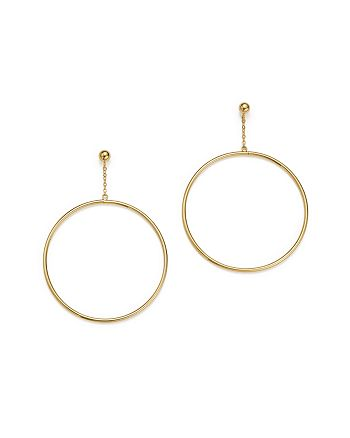Bloomingdale's - 14K Yellow Gold Large Circle Chain Drop Earrings - 100% Exclusive