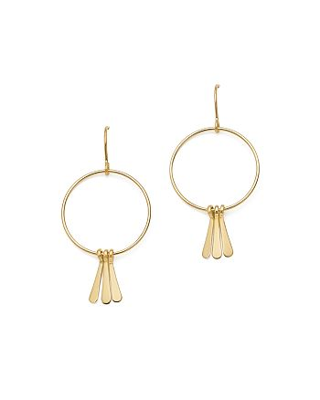 Bloomingdale's - 14K Yellow Gold Circle and Fringe Charm Drop Earrings - 100% Exclusive