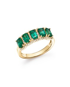 Bloomingdale's - Emerald and Diamond Ring in 14K Yellow Gold - 100% Exclusive