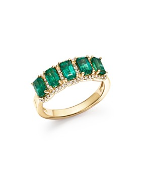 c9309f9e118f Bloomingdale s - Emerald and Diamond Ring in 14K Yellow Gold - 100%  Exclusive ...