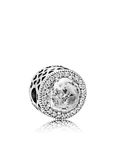 PANDORA - Sterling Silver & Cubic Zirconia Radiant Hearts Charm