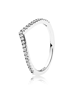 PANDORA - Sterling Silver & Cubic Zirconia Shimmering Wish Ring