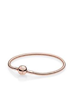 PANDORA - Sterling Silver Rose Smooth Clasp Bracelet