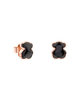 TOUS - Onyx Mini Bear Stud Earrings