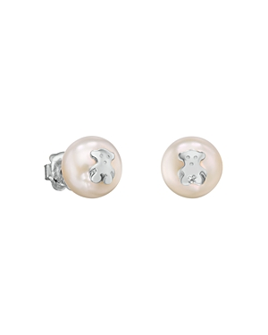 Tous Sterling Silver & Cultured Freshwater Pearl Stud Earrings