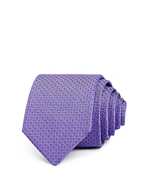 Boss Medium Geometric Grid Classic Tie