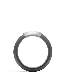 David Yurman - Men's Hex Band Ring in Gray