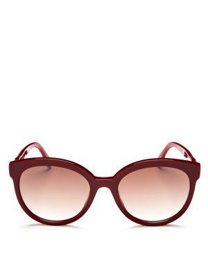 Fendi Mirrored Round Sunglasses, 56mm