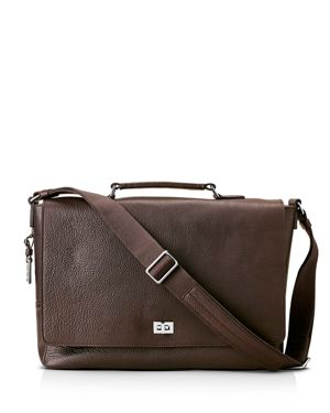 Shinola Luxe Leather Messenger Bag