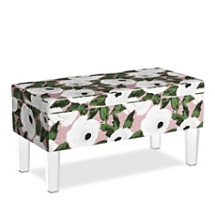 Sparrow & Wren - Collins Storage Bench With Acrylic Legs - 100% Exclusive