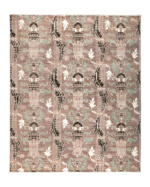 "Solo Rugs - Eclectic Area Rug, 9' 8"" x 8' 2"""