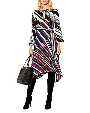 Karen Millen Belted Stripe Dress