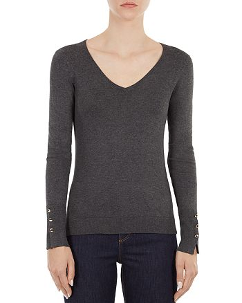 Gerard Darel - Lily Button-Cuff Sweater