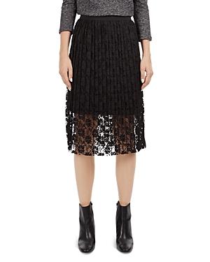 Gerard Darel Alpes Pleated Lace Skirt