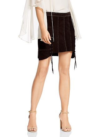 3573a2478d Haute Hippie Earth Wind & Fire Studded Suede Skirt | Bloomingdale's