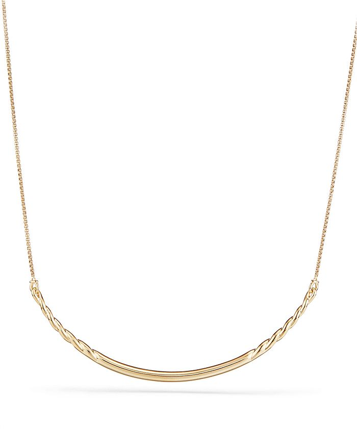 David Yurman - Pure Form Collar Necklace in 18K Yellow Gold