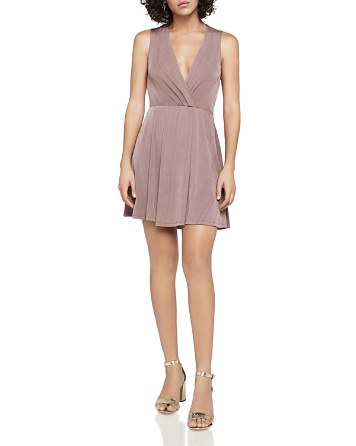 $BCBGeneration Sleeveless Faux-Wrap Dress - Bloomingdale's
