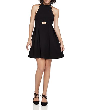 BCBGENERATION - Scalloped Fit-and-Flare Dress