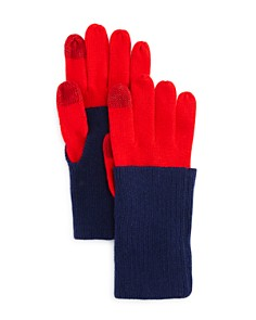 AQUA Fold-over Tech Gloves - 100% Exclusive - Bloomingdale's_0