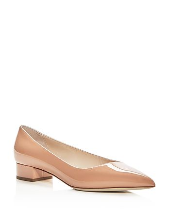 Giorgio Armani - Women's Patent Leather Pointed Toe Low Heel Pumps