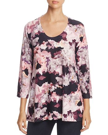 Nally & Millie - Abstract Floral Print Tunic
