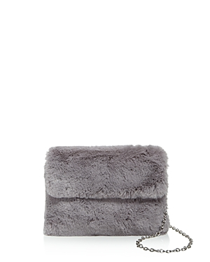 Street Level Faux Fur Clutch