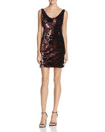 MILLY - Cora Sequin & Velvet Mini Dress