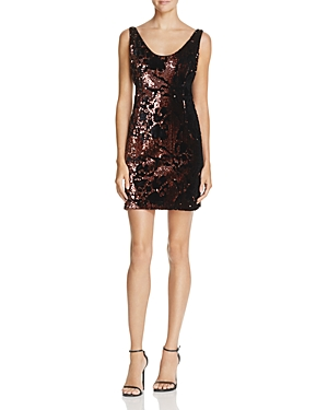 Milly Cora Sequin & Velvet Mini Dress