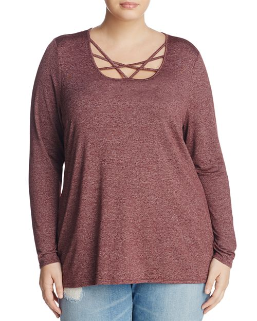 Marc New York Plus - Marled Strappy-Neck Top