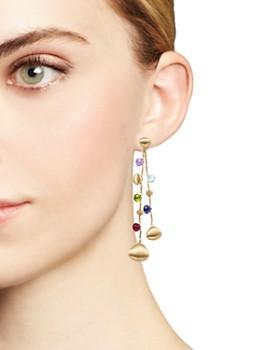Marco Bicego - 18K Yellow Gold Paradise Teardrop Long Double Strand Gemstone Earrings