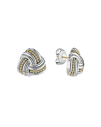 LAGOS - 18K Gold & Sterling Silver Triangle Stud Earrings